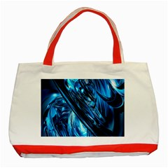 Blue Wave Classic Tote Bag (red)