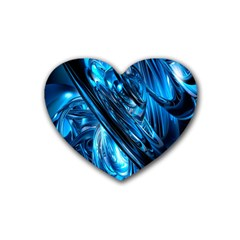 Blue Wave Heart Coaster (4 Pack)