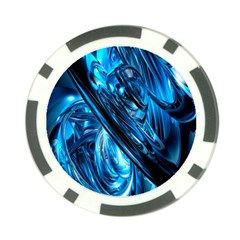 Blue Wave Poker Chip Card Guard