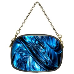 Blue Wave Chain Purses (one Side)
