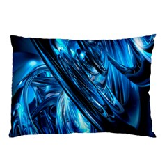Blue Wave Pillow Case (two Sides) by Alisyart