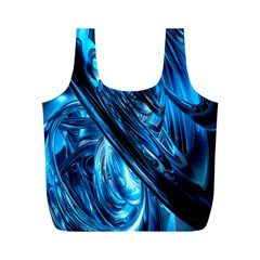 Blue Wave Full Print Recycle Bags (m)  by Alisyart
