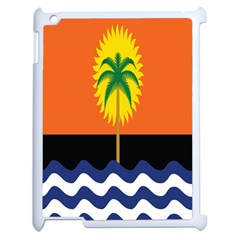 Coconut Tree Wave Water Sun Sea Orange Blue White Yellow Green Apple Ipad 2 Case (white) by Alisyart