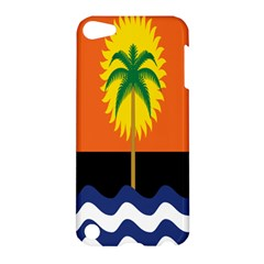 Coconut Tree Wave Water Sun Sea Orange Blue White Yellow Green Apple Ipod Touch 5 Hardshell Case by Alisyart