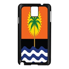 Coconut Tree Wave Water Sun Sea Orange Blue White Yellow Green Samsung Galaxy Note 3 N9005 Case (black)