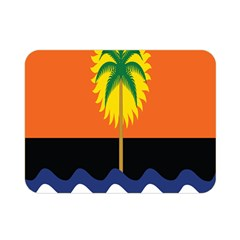 Coconut Tree Wave Water Sun Sea Orange Blue White Yellow Green Double Sided Flano Blanket (mini)  by Alisyart