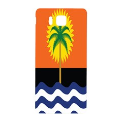 Coconut Tree Wave Water Sun Sea Orange Blue White Yellow Green Samsung Galaxy Alpha Hardshell Back Case