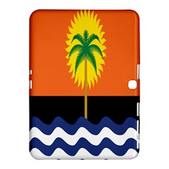 Coconut Tree Wave Water Sun Sea Orange Blue White Yellow Green Samsung Galaxy Tab 4 (10 1 ) Hardshell Case