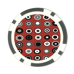 Circles Red Black White Poker Chip Card Guard (10 Pack) by Alisyart