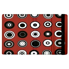 Circles Red Black White Apple Ipad 2 Flip Case
