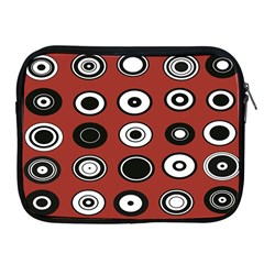 Circles Red Black White Apple Ipad 2/3/4 Zipper Cases by Alisyart