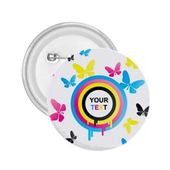 Colorful Butterfly Rainbow Circle Animals Fly Pink Yellow Black Blue Text 2 25  Buttons