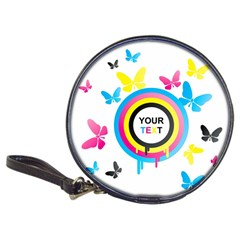 Colorful Butterfly Rainbow Circle Animals Fly Pink Yellow Black Blue Text Classic 20 Cd Wallets