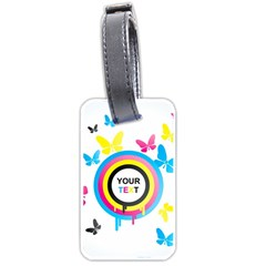 Colorful Butterfly Rainbow Circle Animals Fly Pink Yellow Black Blue Text Luggage Tags (two Sides) by Alisyart