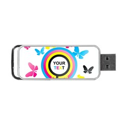 Colorful Butterfly Rainbow Circle Animals Fly Pink Yellow Black Blue Text Portable Usb Flash (two Sides)