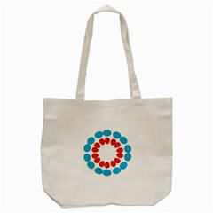 Egg Circles Blue Red White Tote Bag (cream) by Alisyart