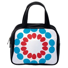 Egg Circles Blue Red White Classic Handbags (one Side) by Alisyart
