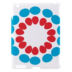 Egg Circles Blue Red White Apple Ipad 3/4 Hardshell Case (compatible With Smart Cover)