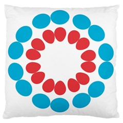 Egg Circles Blue Red White Large Cushion Case (two Sides)