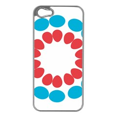 Egg Circles Blue Red White Apple Iphone 5 Case (silver) by Alisyart