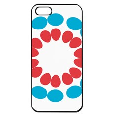 Egg Circles Blue Red White Apple Iphone 5 Seamless Case (black)