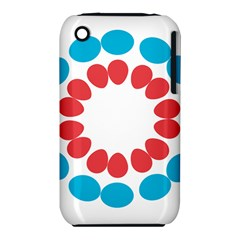 Egg Circles Blue Red White Iphone 3s/3gs by Alisyart