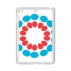 Egg Circles Blue Red White Ipad Mini 2 Enamel Coated Cases