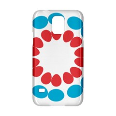 Egg Circles Blue Red White Samsung Galaxy S5 Hardshell Case