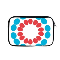 Egg Circles Blue Red White Apple Macbook Pro 13  Zipper Case