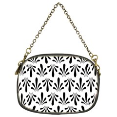 Floral Black White Chain Purses (two Sides)