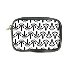 Floral Black White Coin Purse
