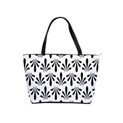 Floral Black White Shoulder Handbags