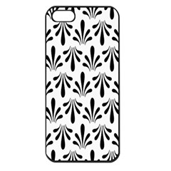 Floral Black White Apple Iphone 5 Seamless Case (black)