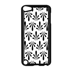 Floral Black White Apple Ipod Touch 5 Case (black) by Alisyart