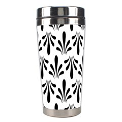 Floral Black White Stainless Steel Travel Tumblers