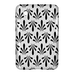 Floral Black White Samsung Galaxy Tab 2 (7 ) P3100 Hardshell Case  by Alisyart