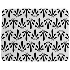 Floral Black White Jigsaw Puzzle Photo Stand (rectangular)