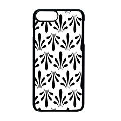 Floral Black White Apple Iphone 7 Plus Seamless Case (black)
