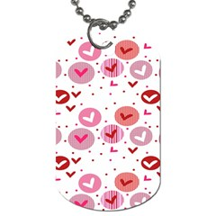 Crafts Chevron Cricle Pink Love Heart Valentine Dog Tag (one Side) by Alisyart