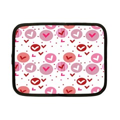 Crafts Chevron Cricle Pink Love Heart Valentine Netbook Case (small)  by Alisyart