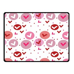 Crafts Chevron Cricle Pink Love Heart Valentine Fleece Blanket (small) by Alisyart