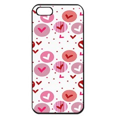Crafts Chevron Cricle Pink Love Heart Valentine Apple Iphone 5 Seamless Case (black)