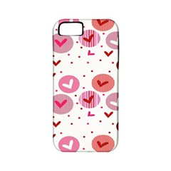 Crafts Chevron Cricle Pink Love Heart Valentine Apple Iphone 5 Classic Hardshell Case (pc+silicone)