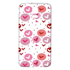 Crafts Chevron Cricle Pink Love Heart Valentine Samsung Galaxy S5 Back Case (white) by Alisyart