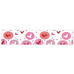 Crafts Chevron Cricle Pink Love Heart Valentine Flano Scarf (small) by Alisyart