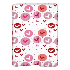 Crafts Chevron Cricle Pink Love Heart Valentine Samsung Galaxy Tab S (10 5 ) Hardshell Case  by Alisyart