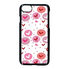 Crafts Chevron Cricle Pink Love Heart Valentine Apple Iphone 7 Seamless Case (black) by Alisyart