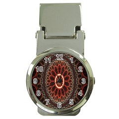 Circles Shapes Psychedelic Symmetry Money Clip Watches by Alisyart