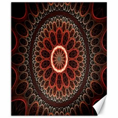 Circles Shapes Psychedelic Symmetry Canvas 8  X 10