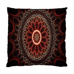 Circles Shapes Psychedelic Symmetry Standard Cushion Case (two Sides) by Alisyart